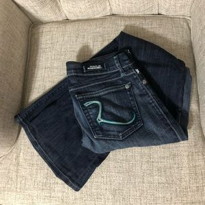 Rock & Republic Jeans - Rock & Republic jeans size 27 with blue embroidery
